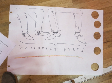 Guitarist feet drawn by Joff